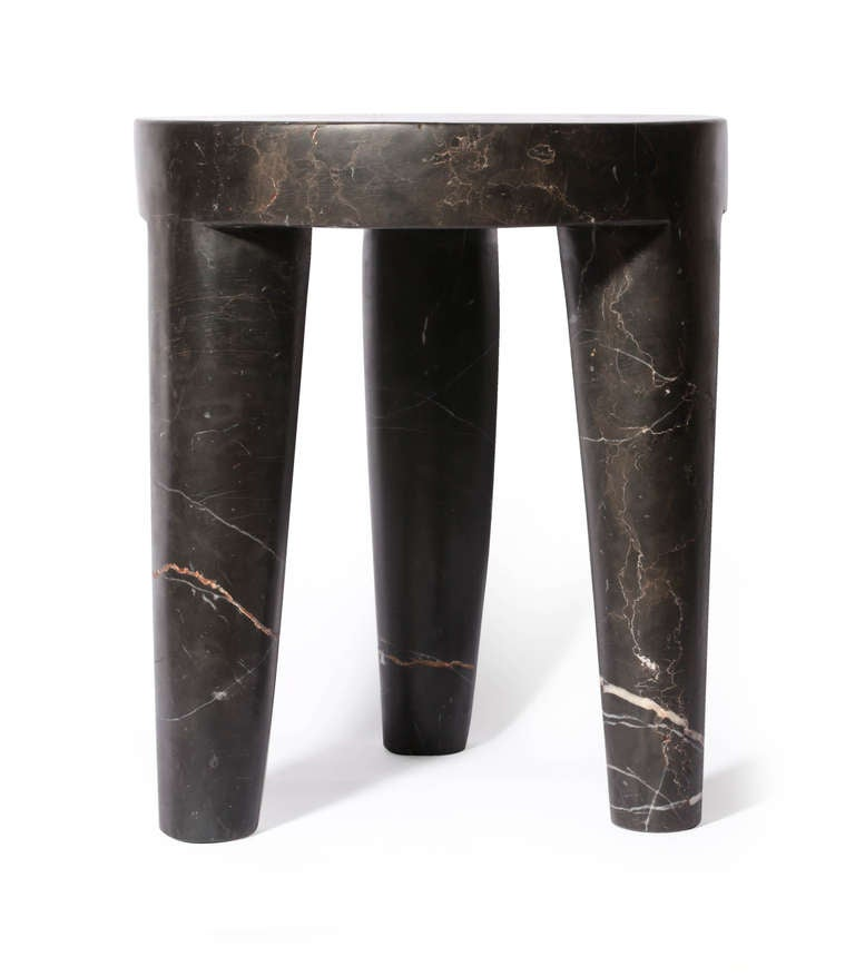 Three Legged Marble Stool By Kelly Wearstler At 1stdibs