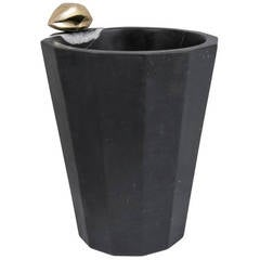 Liaison Champagne Bucket in Negro Marquina Marble