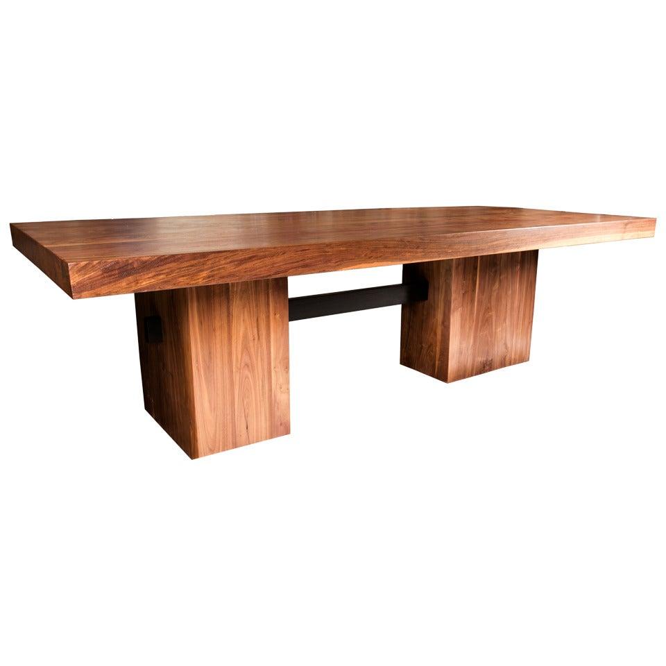 malibu dining table in solid walnut at 1stdibs. Black Bedroom Furniture Sets. Home Design Ideas
