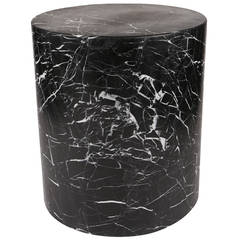 Monolith Side Table in Negro Marquina Marble