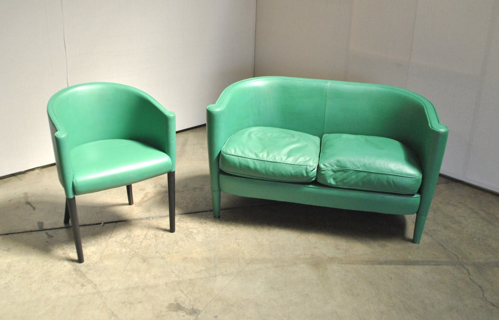 A Chair and Loveseat Set by Moroso 4