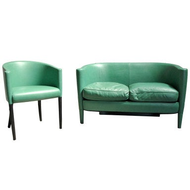 A Chair and Loveseat Set by Moroso