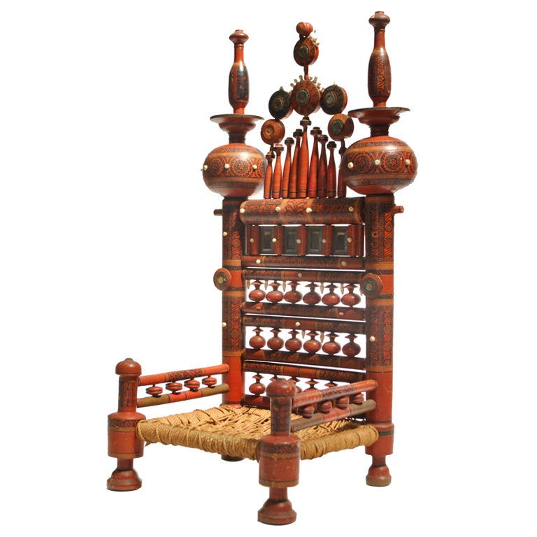 A Traditional Punjabi Low Chair At 1stdibs