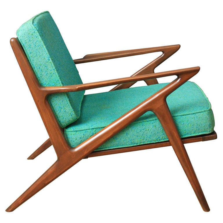 vintage mid century z chair by poul jensen for selig at