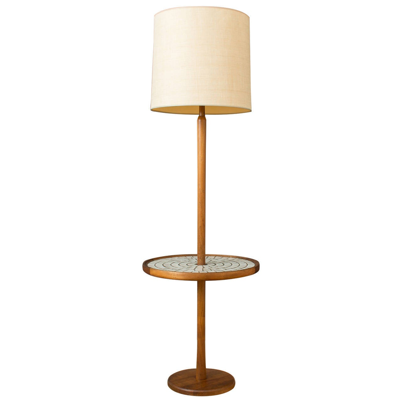 Vintage floor lamp with mosaic table by gordon and jane for Floor lamp mosaic wood