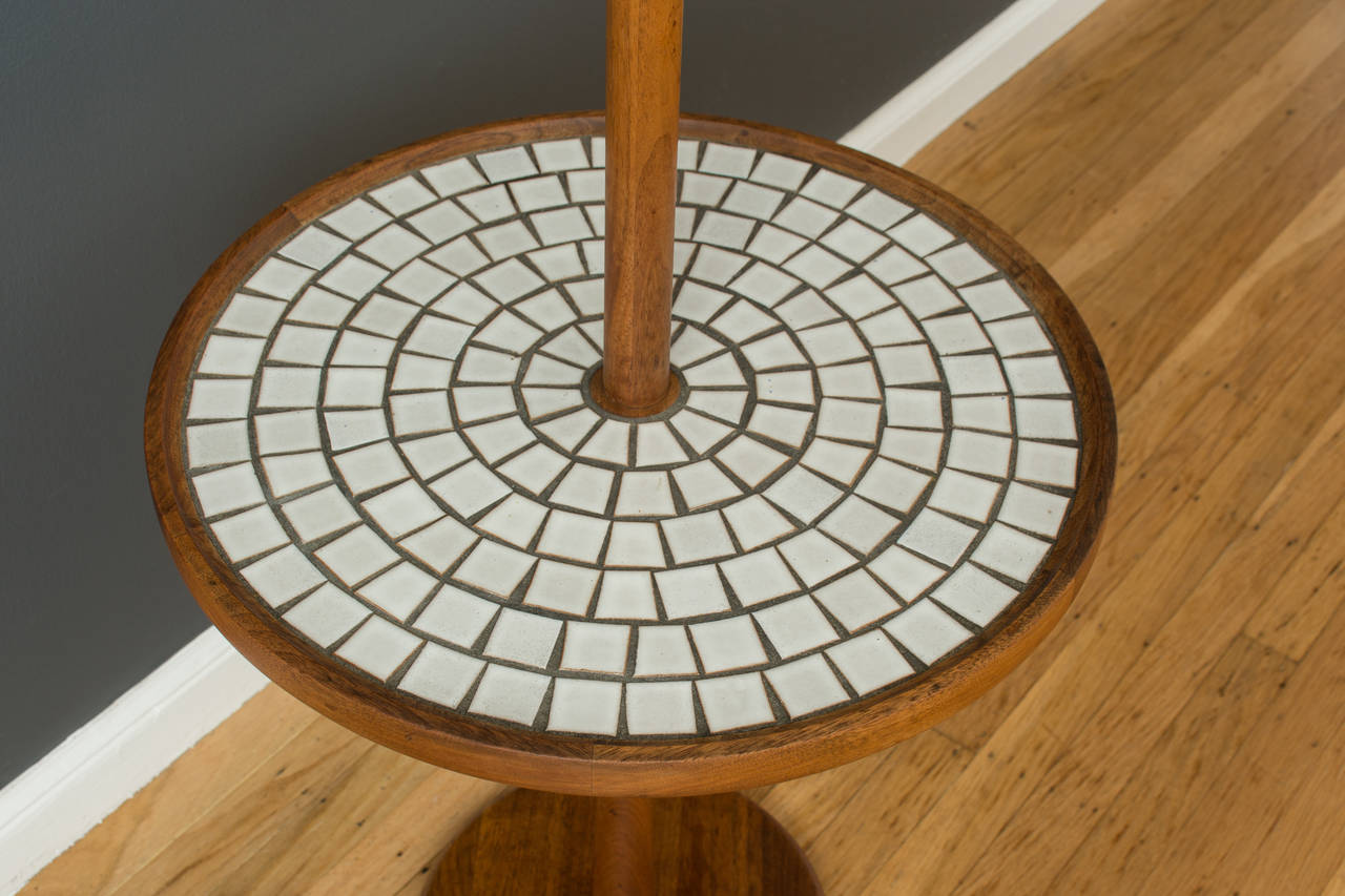 Vintage Floor Lamp With Mosaic Table By Gordon And Jane