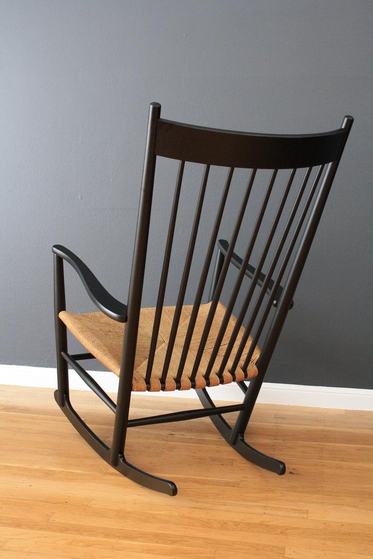 Vintage Hans Wegner J16 Rocking Chair At 1stdibs