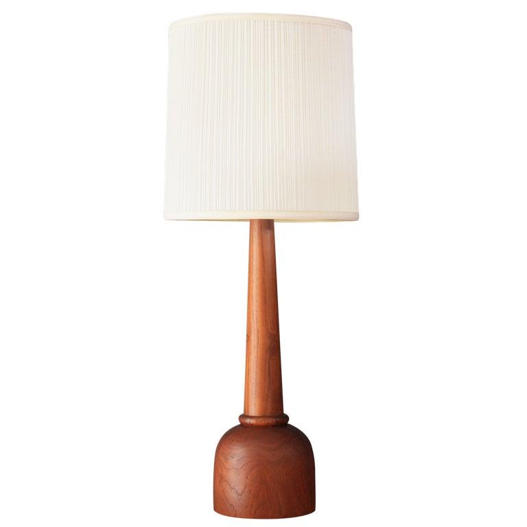 Danish Modern Teak Table Lamp at 1stdibs