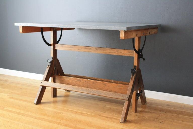 Vintage Drafting Table At 1stdibs