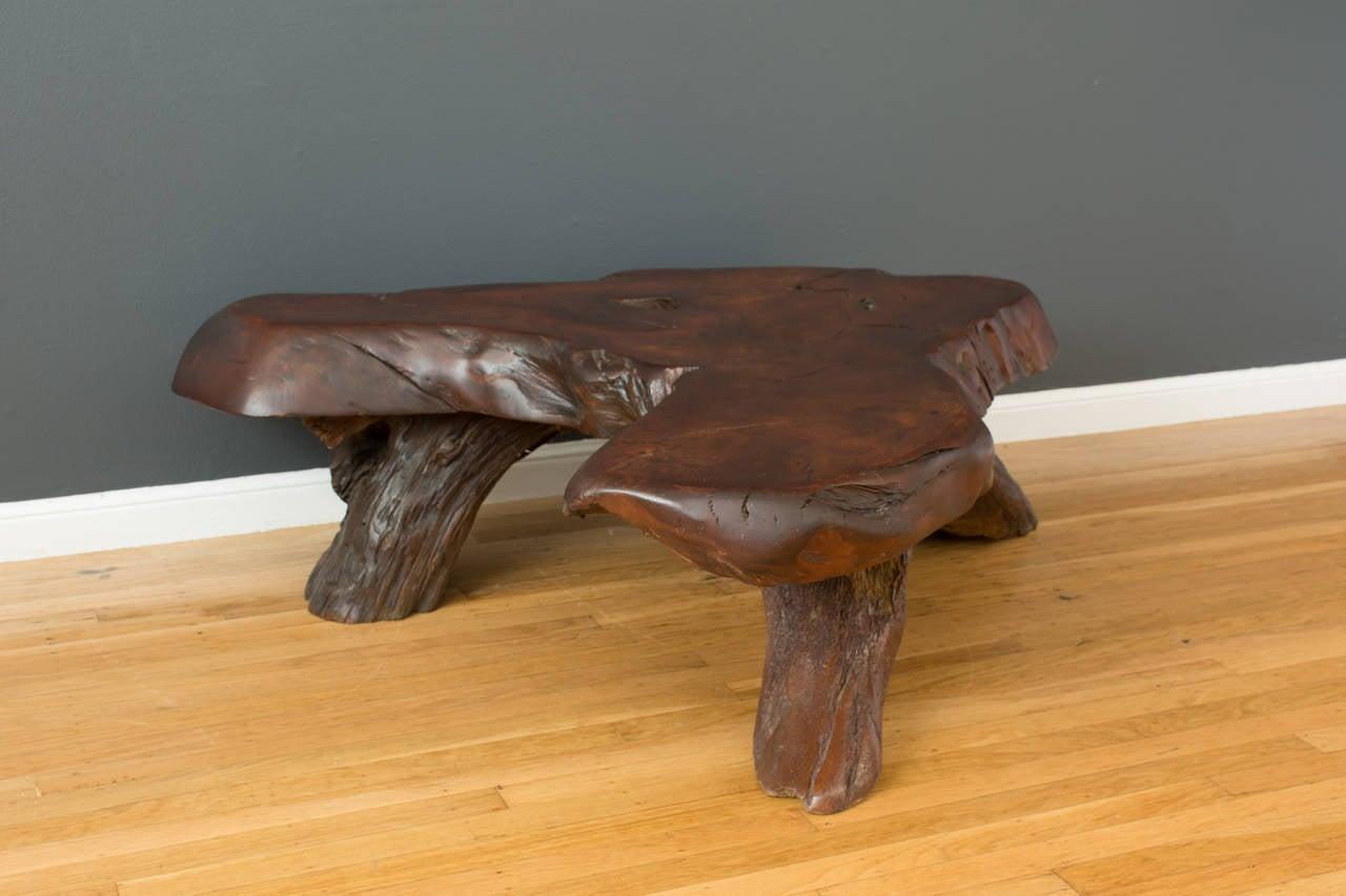 Vintage Redwood Slab Coffee Table At 1stdibs