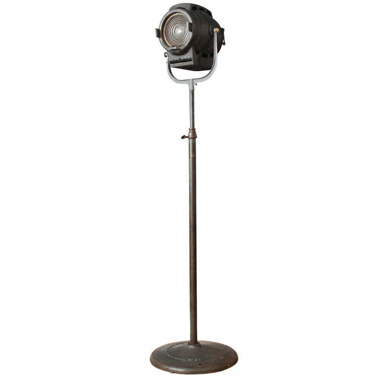 Vintage bm inc hollywood ca studio spotlight lamp at for Retro hollywood floor lamp
