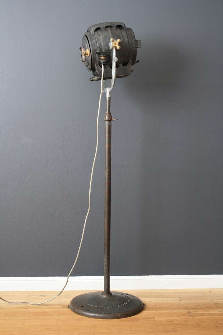 Vintage bm inc hollywood ca studio spotlight lamp at for 1940s hollywood studio floor lamp