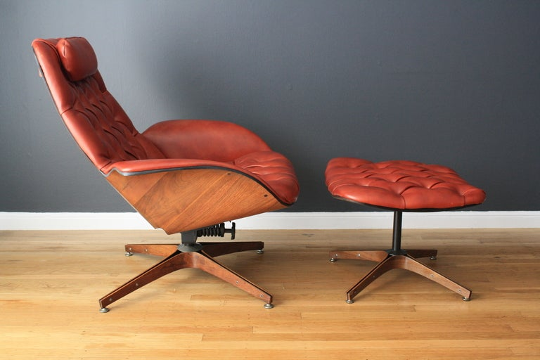 Vintage Lounge Chair and Ottoman by George Mulhauser for Plycraft at 1stdibs