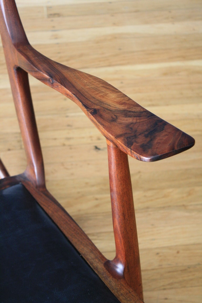 Rocking Chair In The Style Of Sam Maloof At 1stdibs