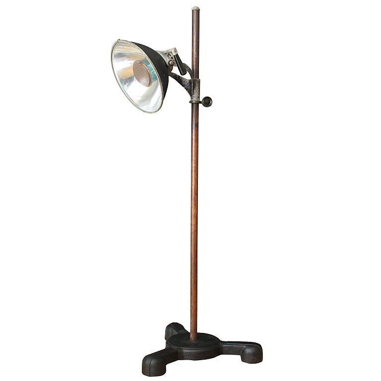 vintage castle lights industrial floor lamp at 1stdibs. Black Bedroom Furniture Sets. Home Design Ideas