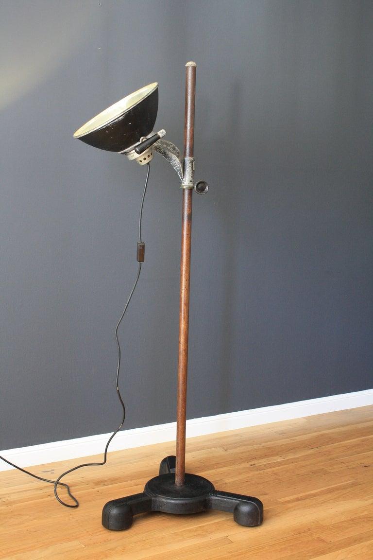 vintage castle lights industrial floor lamp at 1stdibs. Black Bedroom Furniture Sets. Home Design Ideas