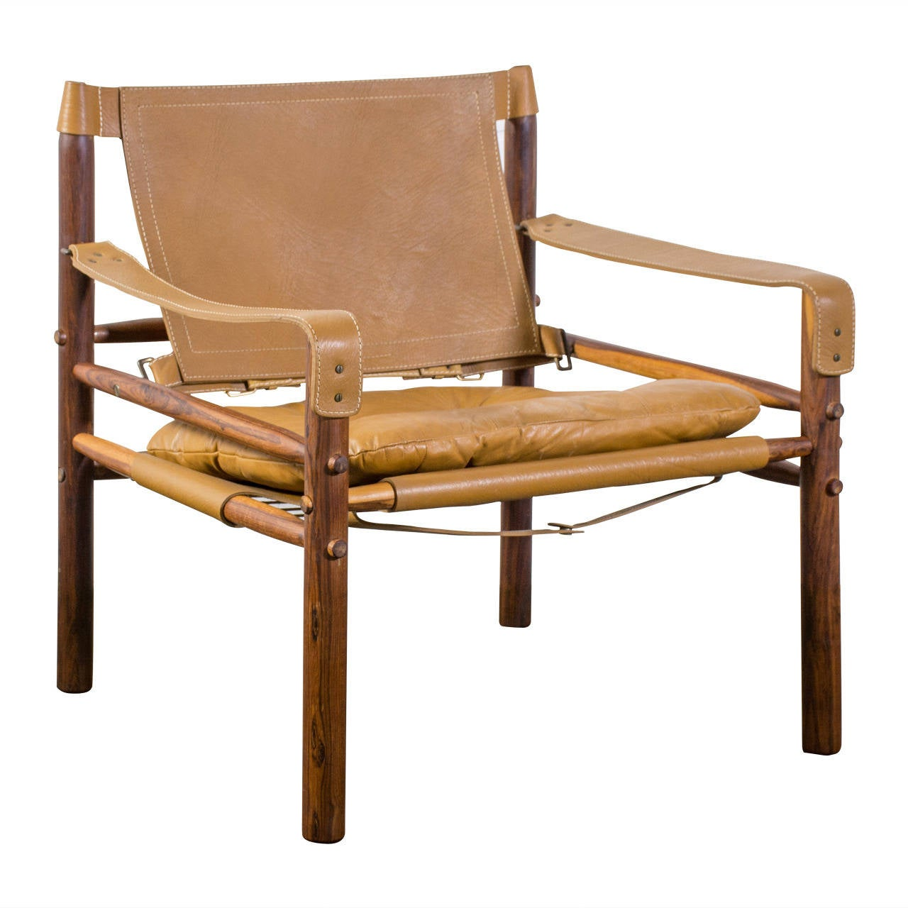 Vintage Safari Chair By Arne Norell 1