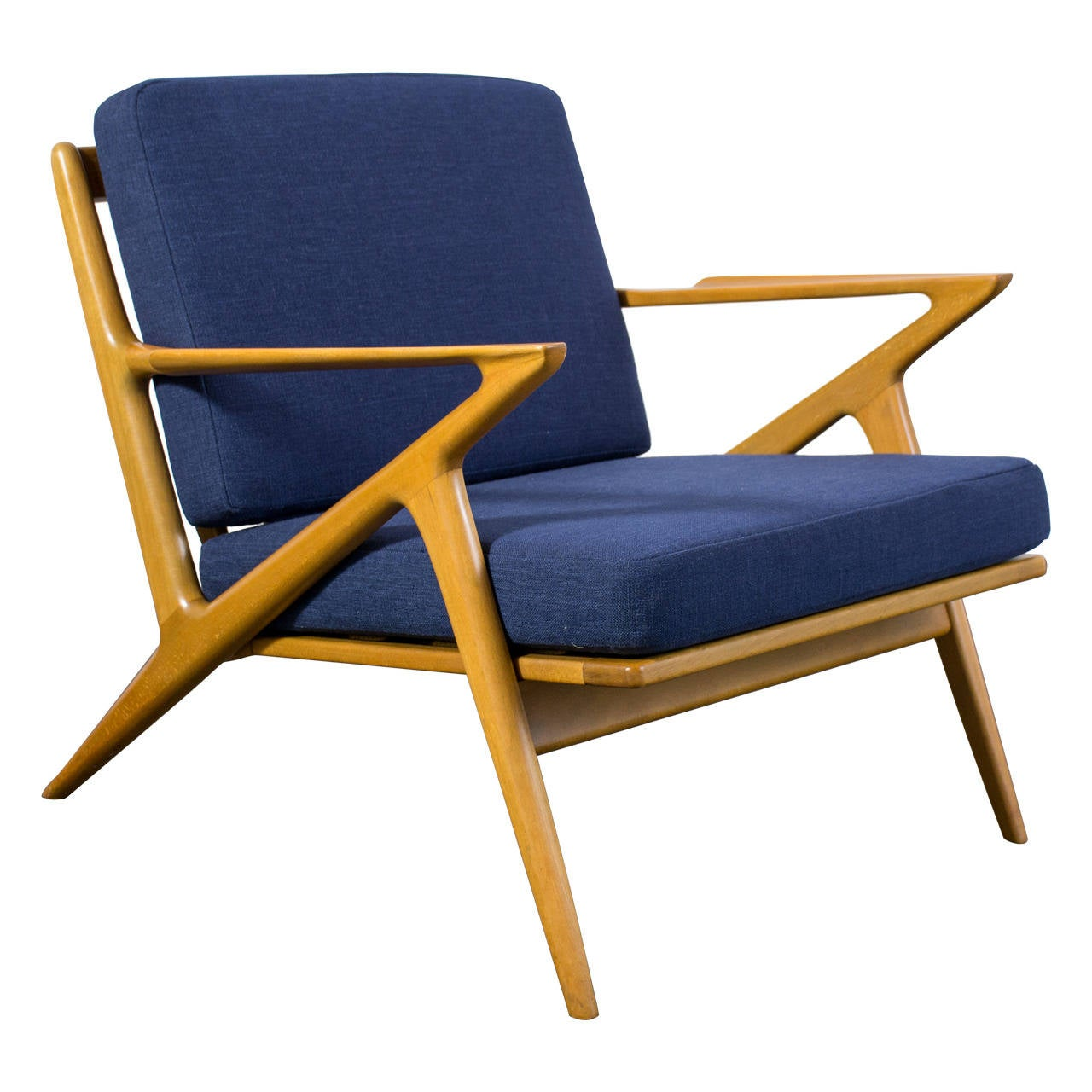 danish modern 39 z 39 lounge chair by poul jensen at 1stdibs. Black Bedroom Furniture Sets. Home Design Ideas