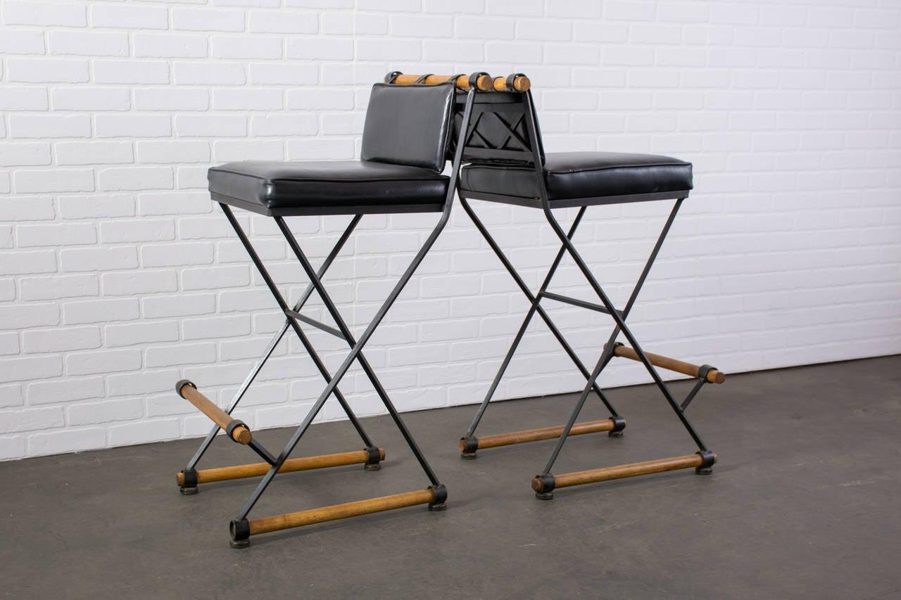 pair of vintage midcentury bar stools by cleo baldon 3