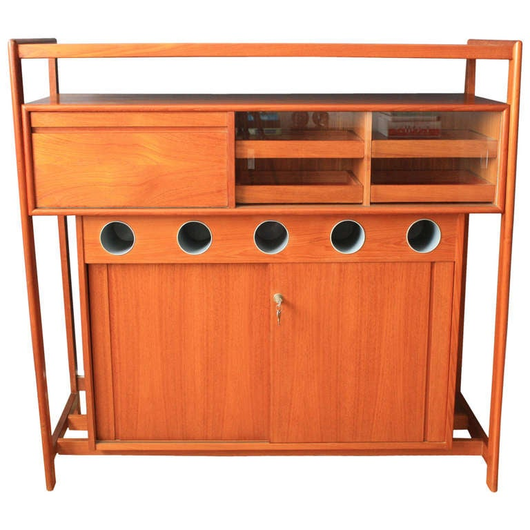 Danish modern dry bar at 1stdibs for Home dry bar furniture