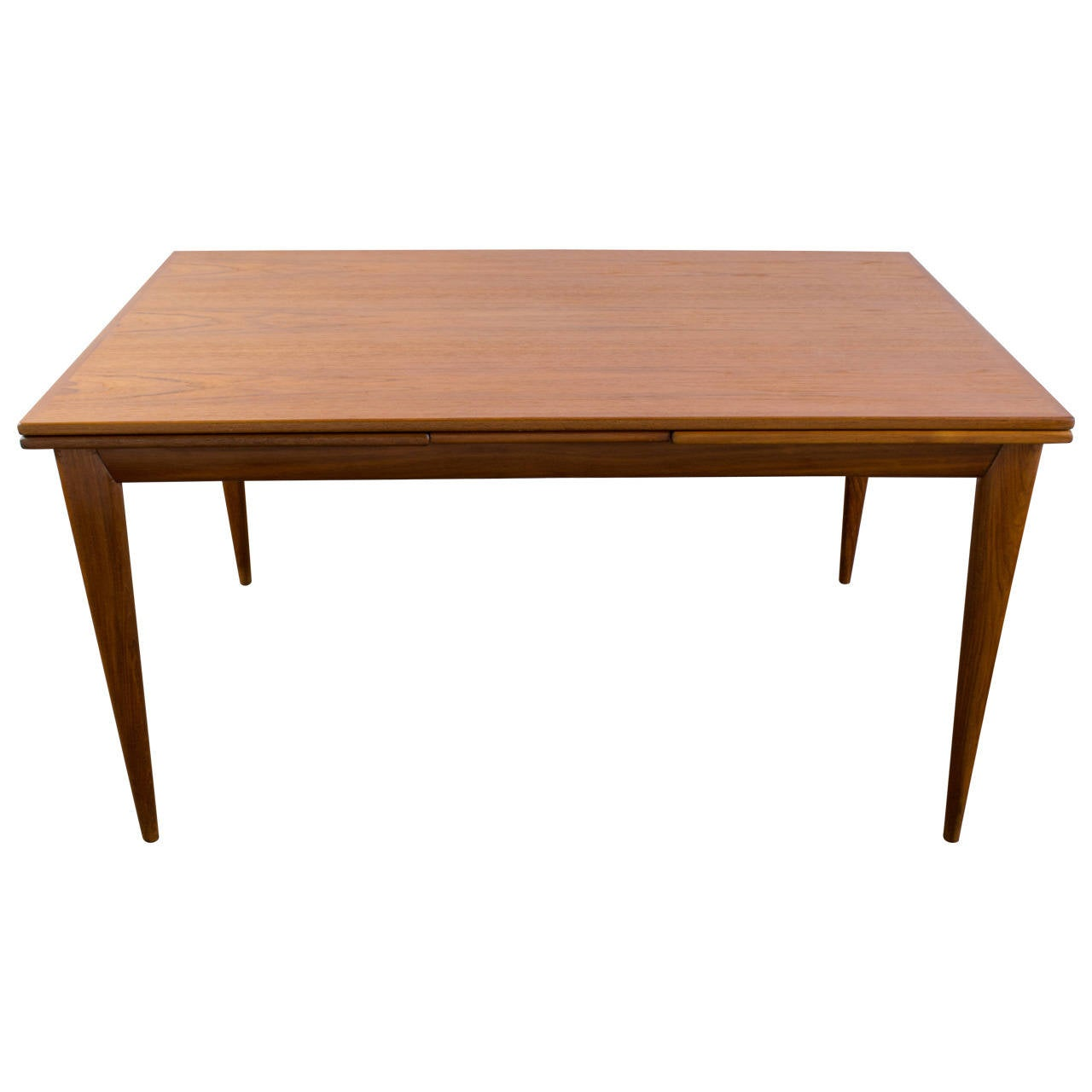 Danish Modern Teak Dining Table With Leaves By J L Moller