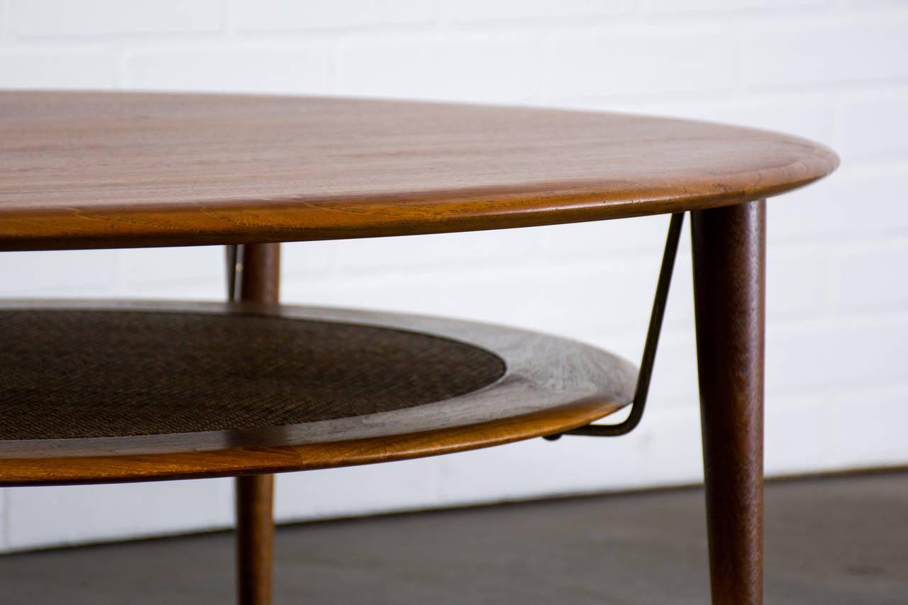 Danish Modern Round Teak Coffee Table By Peter Hvidt And Orla Molgaard Nielsen At 1stdibs