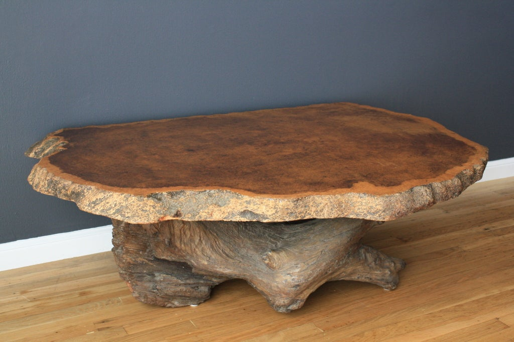 Vintage Burl Wood Slab Coffee Table At 1stdibs
