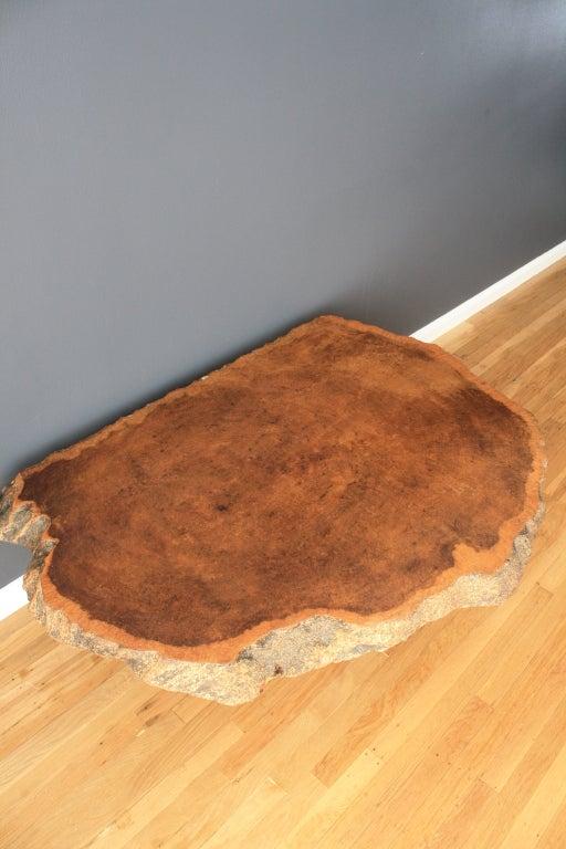 Vintage Burl Wood Slab Coffee Table At 1stdibs