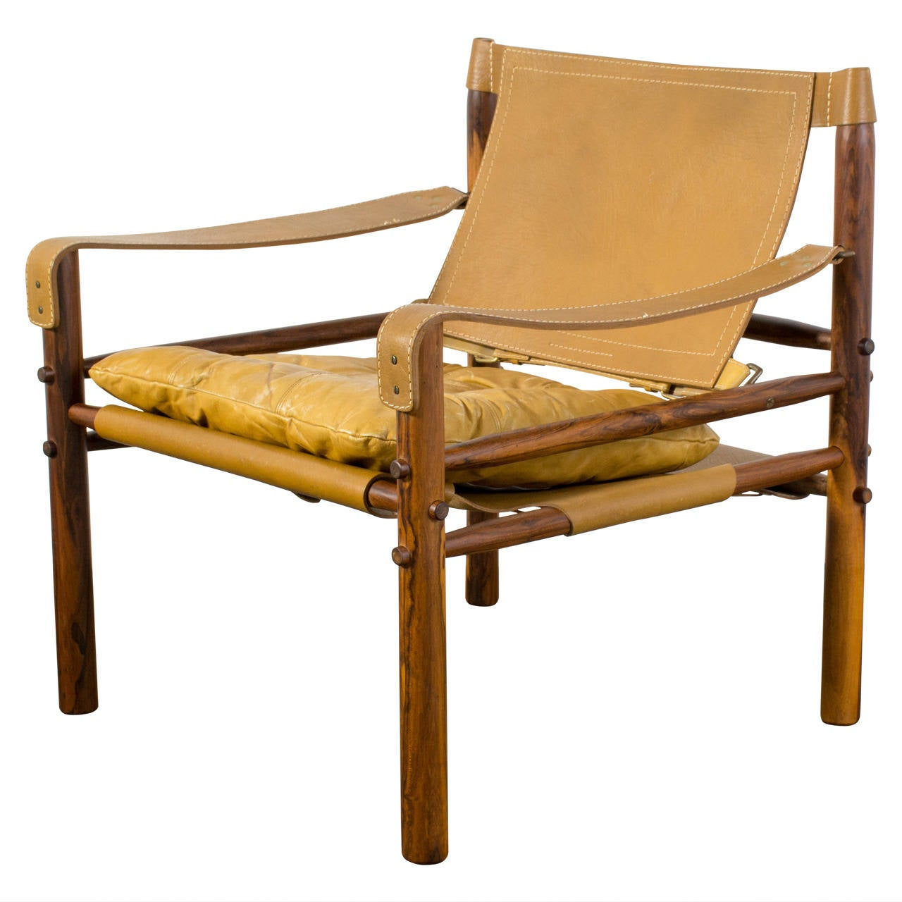 """Vintage Mid Century """"Sirrocco"""" Safari Chair by Arne Norell"""