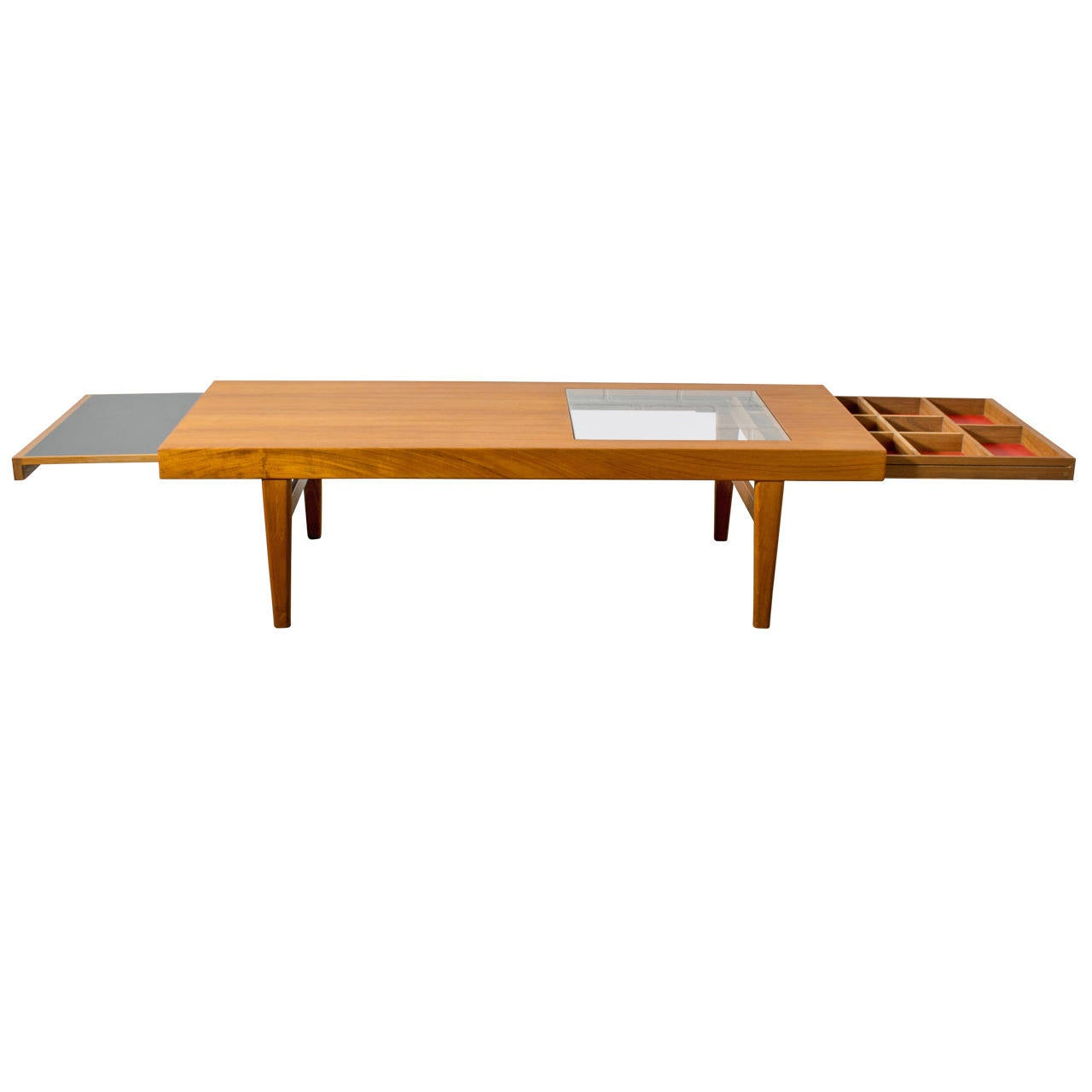 Rare danish modern coffee table by selig at 1stdibs for Modern coffee table for sale