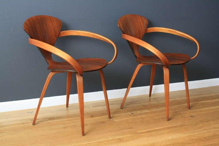 pair of vintage cherner pretzel chairs 2