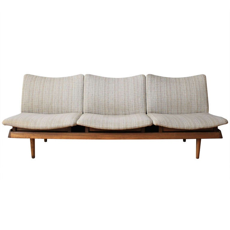 Mid century modern modular seating sofa at 1stdibs for Mid century modern modular homes
