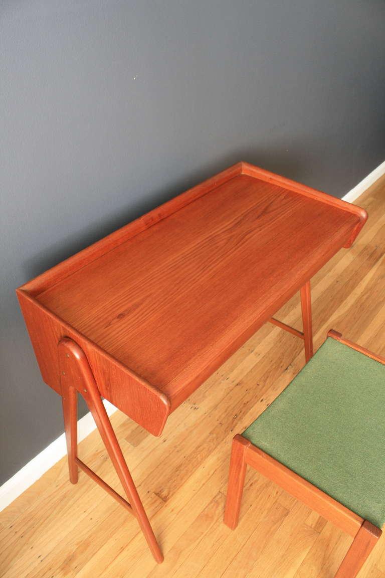 danish modern vanity and stool at 1stdibs