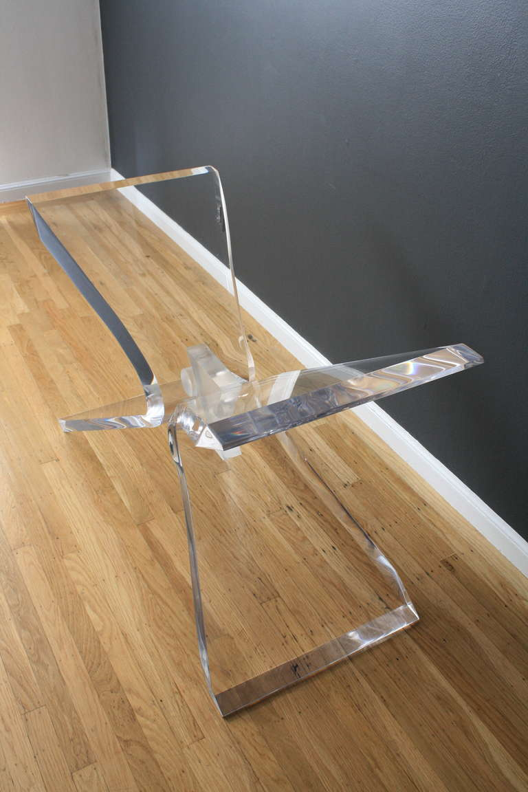 Vintage Lucite Butterfly Dining Table Base At 1stdibs