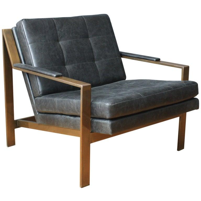 Mid Century Modern Milo Baughman Lounge Chair at 1stdibs