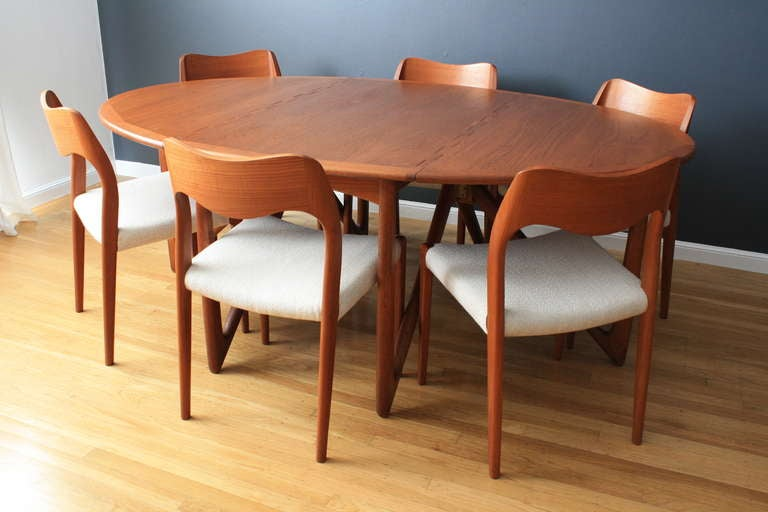 Danish Modern Dining Table By Kurt Ostervig Image 2