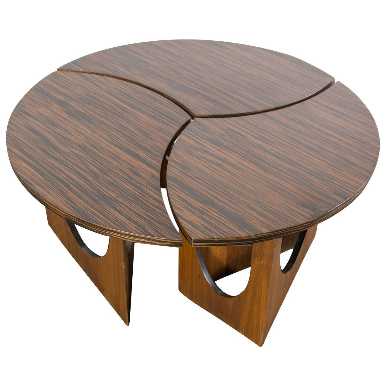 Vintage mid century three piece coffee table at 1stdibs for Coffee tables 3 piece