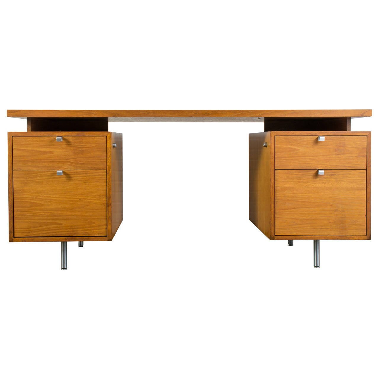 Mid Century Modern Executive Desk By George Nelson For