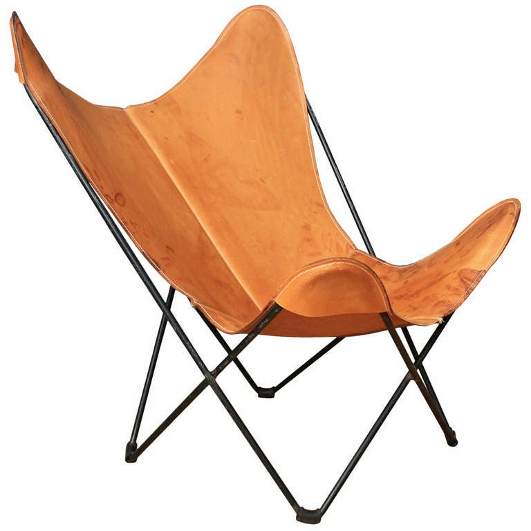 Vintage Mid Century Butterfly Chair For Sale