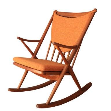 Danish Modern Teak Rocking Chair by Frank Reenskaug at 1stdibs