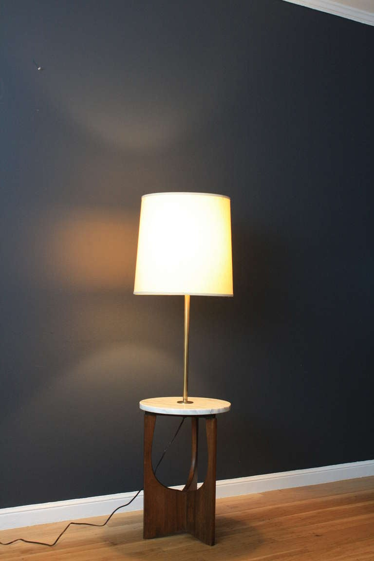 Vintage Mid Century Floor Lamp With Table At 1stdibs