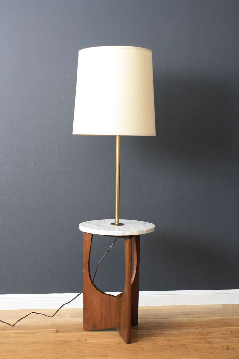 Vintage Mid-Century Floor Lamp with Table at 1stdibs