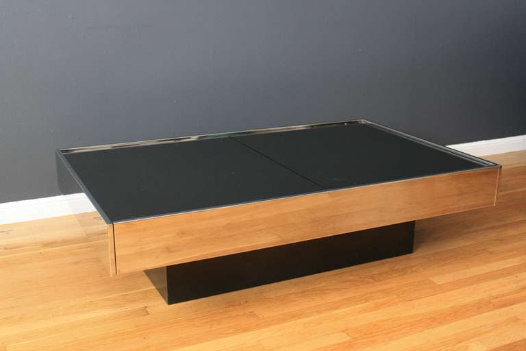 Vintage coffee table by willy rizzo for cidue italy at 1stdibs for Table willy rizzo