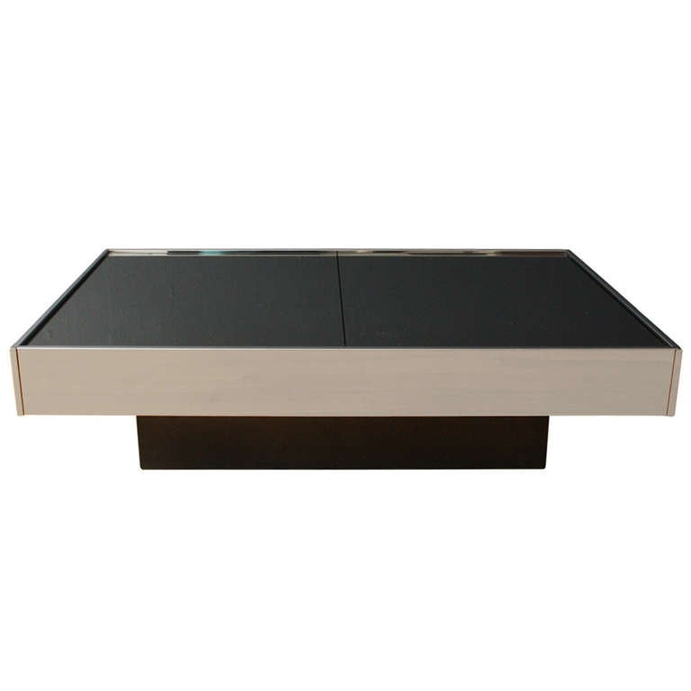 Vintage Coffee Table By Willy Rizzo For Cidue Italy At 1stdibs