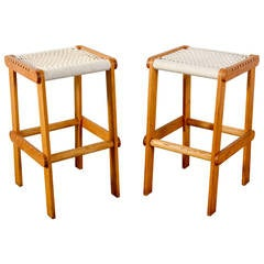 Set Of Four Vintage Mid Century Stacking Stools By Isamu