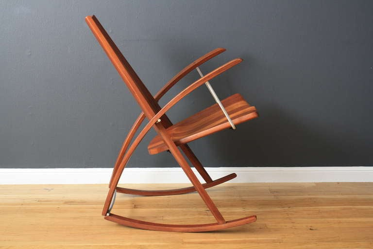 Vintage Rocking Chair By Leon Meyer At 1stdibs