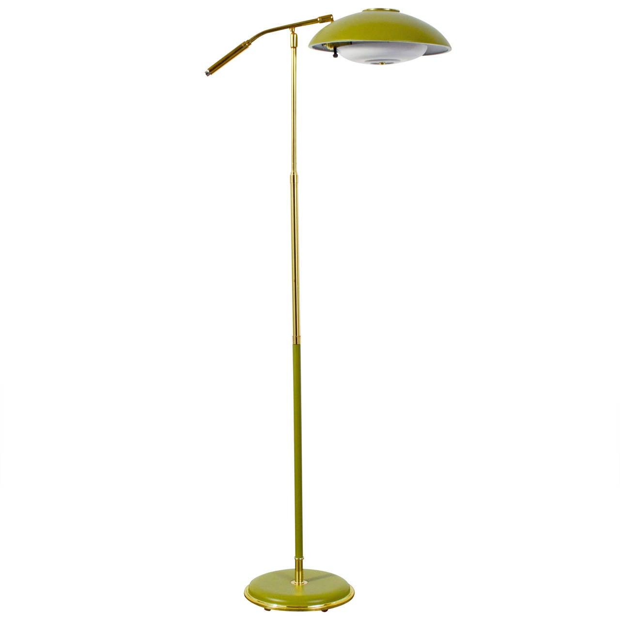 Vintage mid century floor lamp at 1stdibs for Roosevelt 1 light floor lamp