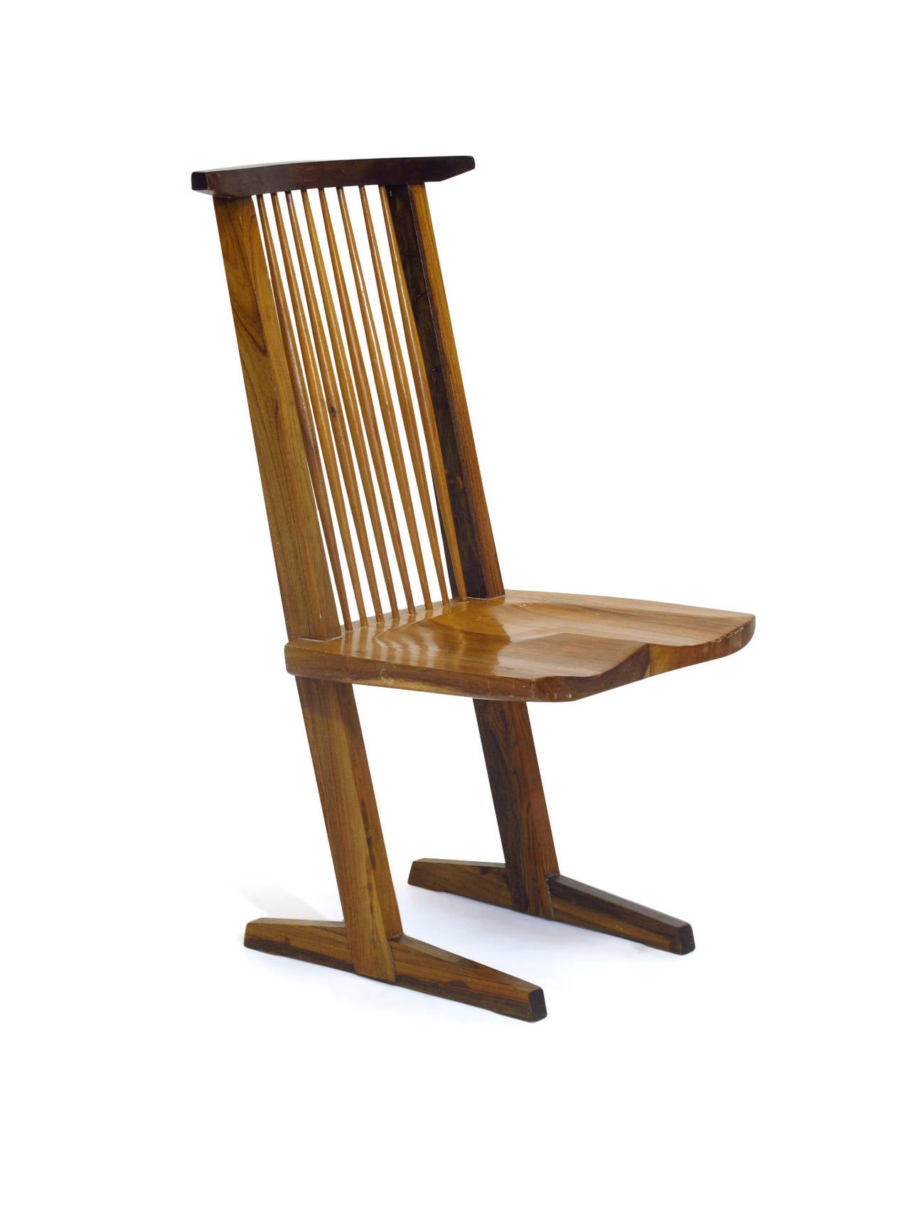 Set Of Eight Dining Chairs In The Manner Of George Nakashima At 1stdibs