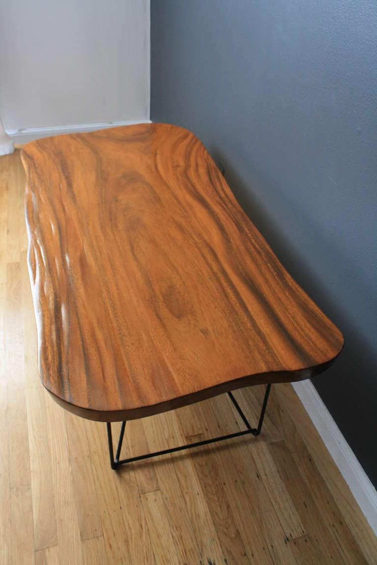 Vintage Wood Slab Coffee Table At 1stdibs