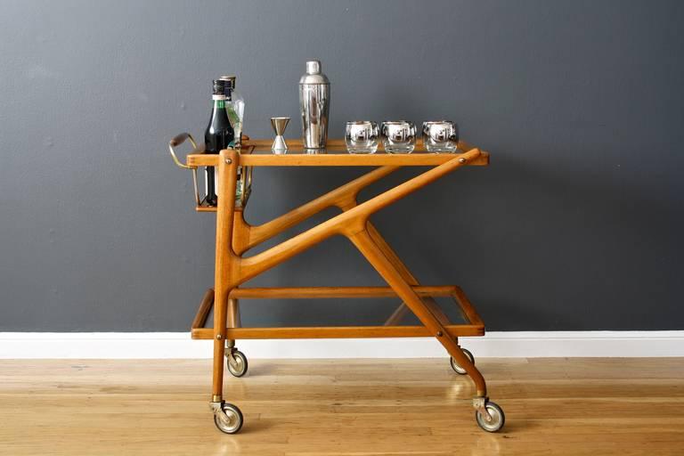 Vintage Mid Century Italian Bar Cart By Salca 2